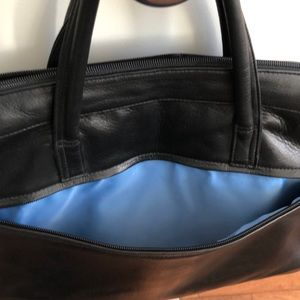Perlina New York Leather Laptop Briefcase🌟